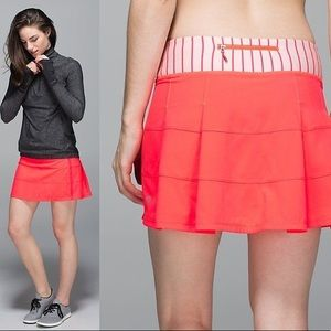 Lululemon pace rival skirt II T  6 electric coral